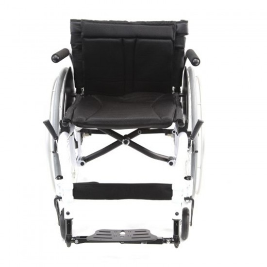 Karman S-ERGO ATX Ultralightweight Active Wheelchair | S-Shape Seat Size 16 inch X 18 inch | Seat Height Adjustable | Color White