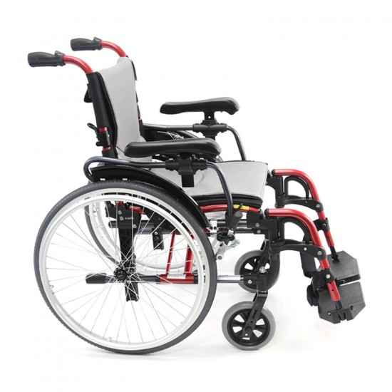 "Karman Healthcare S-Ergo 305 18"" Ultra Lightweight Ergonomic Wheelchair, 29 lbs - Red"